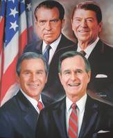 The Presidents-Bush Sr, Bush Jr,  Reagan and Nixon