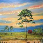 """Sunset Barn Southern Country"" by mazz"