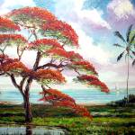 """Blooming Royal Poinciana Tree"" by mazz"