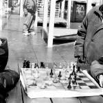 """Они играют шахмат в зиме"" by HidingUnderWater"