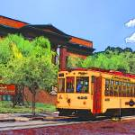 """Teco Street Car West Tampa Public Library"" by Automotography"