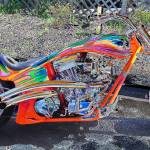 """retro custom hot motorcycle"" by jpt"