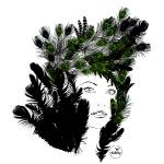 """Nature Feathers Woman"" by aleloop"