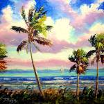 """Vibrant Tropical Wind"" by mazz"