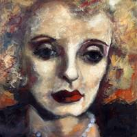 Bette Davis Oil Painting by Ginette Callaway