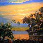 Florida Fire Sky Reflections by Mazz Original Paintings
