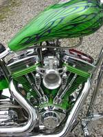 green flame tank side