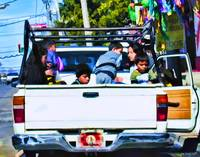Mexican Children in Back of Truck