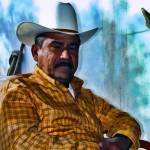 """Portrait of a Mexican Man Wearing a Cowboy Hat"" by johncorney"