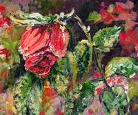 Dying Rose from Original Painting by Ginette