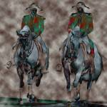 """Contemporary Lipizzaners"" by SharonANelson"