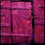 """Bloody red purple door in Avignon, France"" by Semi-detached"
