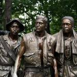 """The Three Servicemen Statue at the Vietnam Veteran"" by Lollygagging"