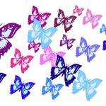 """Colorful Butterflies"" by parakeetart"