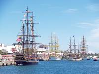 Tall Ships in Hamilton Harbour Bermuda