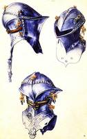 Armours Helmets in Three Different Positions