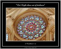 Cathedral Stained Glass Window (Faith-18v)