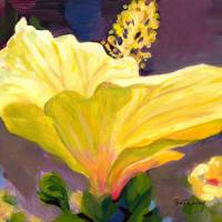 Yellow Hibiscus Art Prints & Posters by Bethany Vanderputten