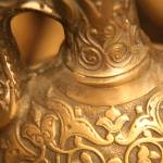 """Brass Vase Carvings"" by DonnaCorless"