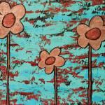 """""""Funky Flowers 1"""" by dpj"""