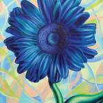 """Blue Gerbera"" by dpj"