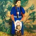 """Native American Indian Spokane Woman"" by Ilovecolor"