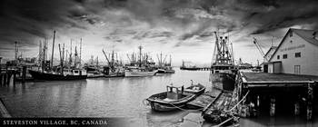 Steveston Village (BW)