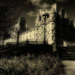 """Founders Building at Royal Holloway (Sepia)"" by talha"