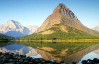 View across Swiftcurrent Lake