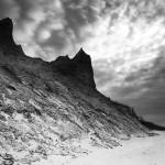 """Chimney Bluffs (B&W)"" by colorblinded"