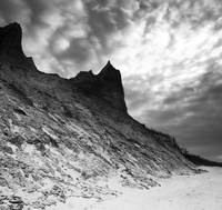 Chimney Bluffs (B&W)