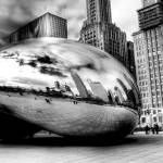 """Chicago Bean Black & White"" by neilwoodfc"