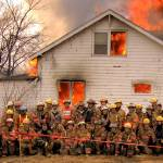 """St. Paul Park house burn April 12th 2008"" by neilwoodfc"