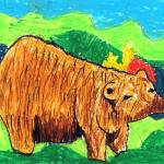 """Hollis Zeng 5- Bear"" by sabahkinderart"