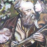 """Violinist with Children"" by philgoodrich"