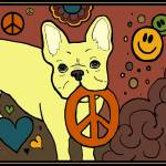 """Frenchie Peace Love Happiness"" by ccfabulous"