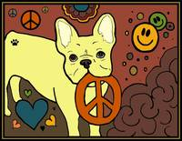 Frenchie Peace Love Happiness