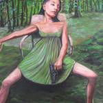 """Girl, Gun, Forrest"" by philgoodrich"