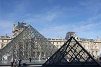 pyramids in the Louvre museum
