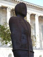 Antony Gormley's Iron: Man, in Victoria Square, Bi