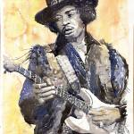 """Jimi Hendrix 01"" by shevchukart"