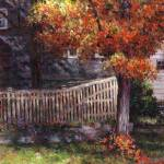 """Dappled Fence"" by susansartgallery"