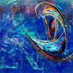 """Swirl On Blue"" by ChrisMarshall"