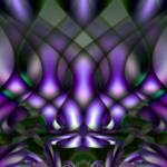 """Trance-lucent Purple Patterns"" by DolphinArts"