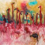 """Flamingo Party"" by lisapyoung"