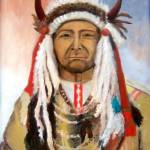 """Native American India Moonface Bear"" by Ilovecolor"