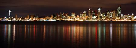 Seattle Skyline over Elliot Bay