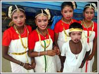 Kids in traditional dress