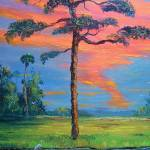 """Fire Sky Slash Pine Tree"" by mazz"