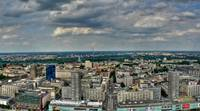 Warsaw city panoramic view